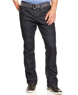 Royal Premium Denim  - Belted Straight-Leg Jeans