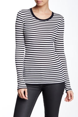 Theory - Mirzi Refine Striped Wool Sweater