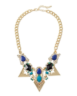 Jules Smith - Triangle Crystal Statement Necklace