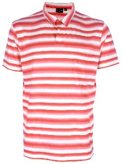 PAUL SMITH  - striped polo neck t-shirt