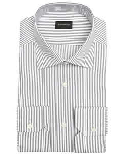 Ermenegildo Zegna  - Cotton Button Front Striped Dress Shirt