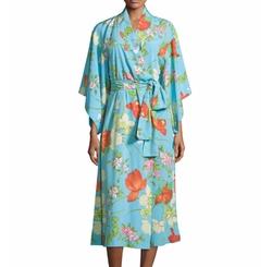 Natori  - Peranakan Floral-Print Long Robe