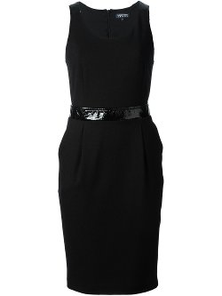 Emporio Armani  - Sleeveless Belted Pencil Dress