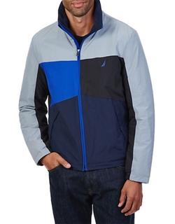 Nautica  - Colorblocked Zip-Front Jacket
