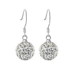 Happy4you - Diamond Crystal Ball Hook Earrings
