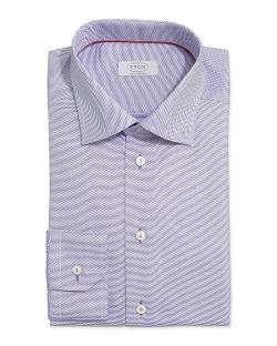 Eton  - Textured Solid Dress Shirt, Purple