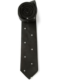 Paul Smith  - Embroidered Star Pattern Tie