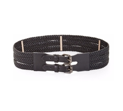 BCBGMAXAZRIA - Double Buckle Faux-Leather Waist Belt