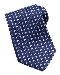 Charvet - Houndstooth Silk Tie