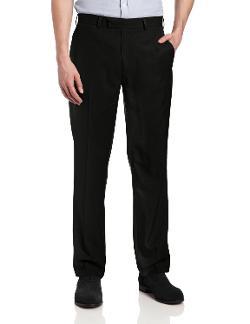 John Henry  - Flat Front Modern Fit Crosshatch Microfiber Pants