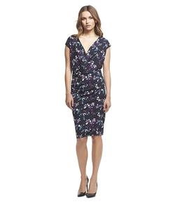 Robert Rodriguez - Floral Print V-Neck Dress