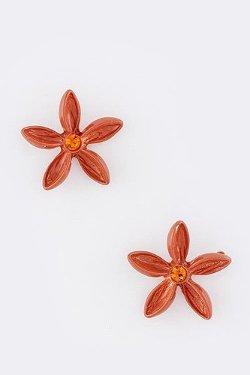 Karmas Canvas - Color Floral Stud Earrings