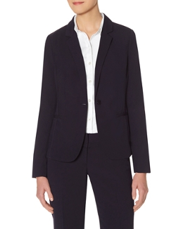 The Limited - Topstitched One Button Blazer