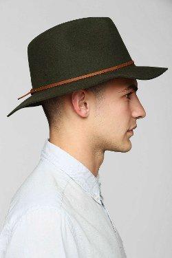 Brixton  - Wesley Wide-Brim Fedora Hat