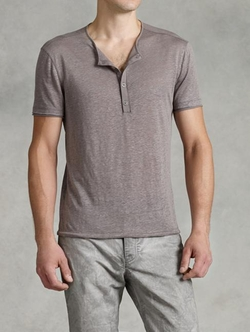 John Varvatos - Short Sleeve Henley Shirt