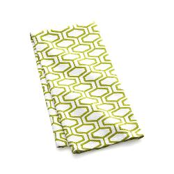 Crate & Barrel - Honeycomb Green Dishtowel