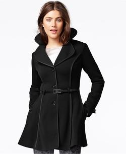 Jou Jou  - Belted Fleece Flare Coat