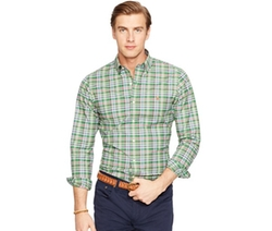 Polo Ralph Lauren  - Slim-Fit Plaid Stretch-Oxford Shirt
