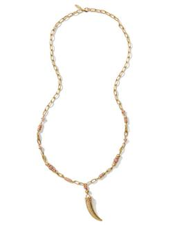 Ny Deals  - Golden Horn-Pendant Necklace