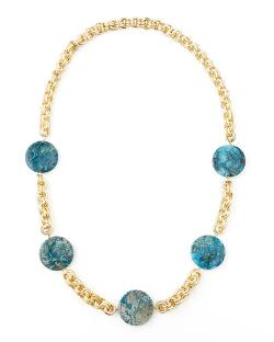 Devon Leigh	  - Feldspar Coin Necklace