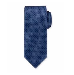Brioni  - Circle-Link Printed Silk Tie