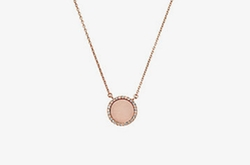 Michael Kors - Blush Acetate And Rose Gold-Tone Pendant Necklace