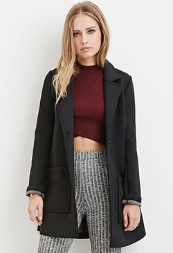 Forever 21 - Longline Scuba Knit Coat