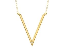 Ahalife - Diamond Chevron Necklace
