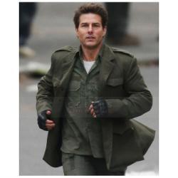 Celebs Leather Jacket - EDGE OF TOMORROW TOM CRUISE LEATHER COAT