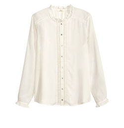 H&M - Lace Trim Blouse