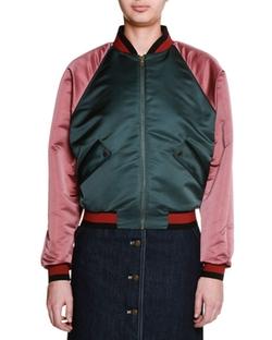 Tomas Maier  - Colorblock Zip-Front Bomber Jacket