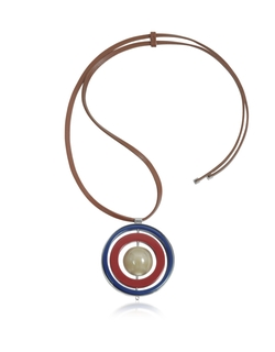 Marni - Dark Red Metal Necklace W/ Sphere