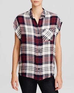 Wayf - Sleeveless Plaid Shirt
