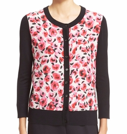 Kate Spade New York - Rose Print Cardigan
