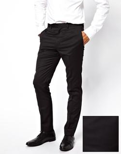 French Connection  - Slim Fit Tuxedo Suit Pant