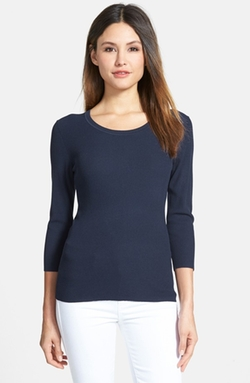 Classiques Entier - Scoop Neck Ribbed Pullover Sweater