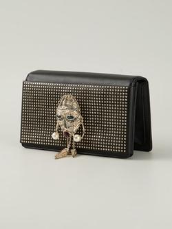 Roberto Cavalli - Studded Embellished Mask Clutch Bag