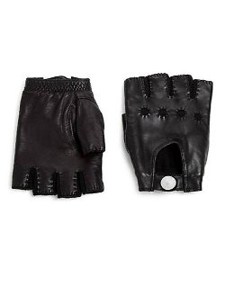 Marc by Marc Jacobs  - Leather Fingerless Gloves