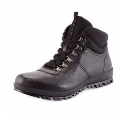Prada - Lugged Leather Hiking Boots