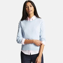 Uniqlo - Cashmere Lacy Crewneck Sweater