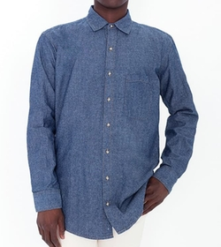 American Apparel - Heavy Chambray Long Sleeve Shirt