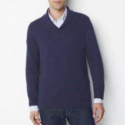 La Redoute  - Cotton Shawl Collar Sweater