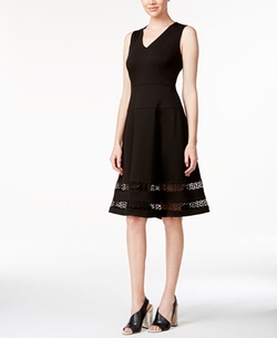 Calvin Klein - Illusion-Hem Fit & Flare Dress