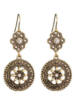 Maurices - Double Drop Flower Earrings