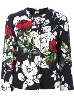 Dolce & Gabbana   - Rose Print Brocade Jacket