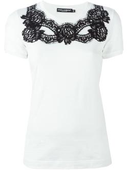 Dolce & Gabbana - Lace Detail T-Shirt