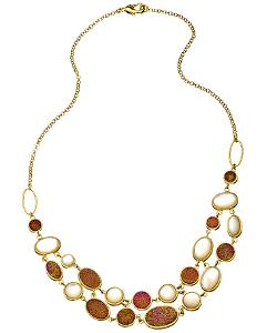 Andara  - Statement White Pearl and Druzy Necklace