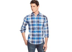 Club Room  - Big and Tall Long-Sleeve Plaid Shirt
