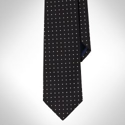 Ralph Lauren - Regency Dot Silk Repp Tie