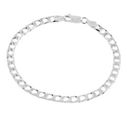 JC Penney - Mens Sterling Silver Square Curb Chain Necklace